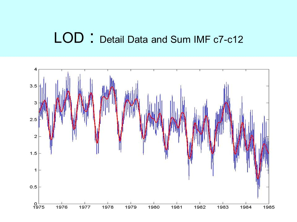LOD : Detail Data and Sum IMF c7-c12