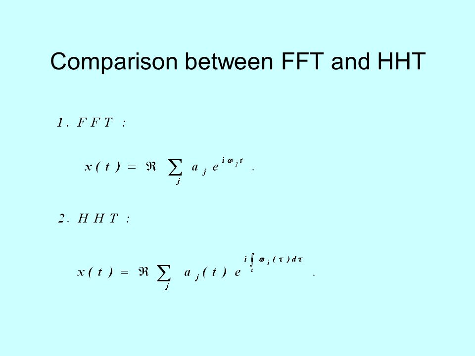 Comparison between FFT and HHT