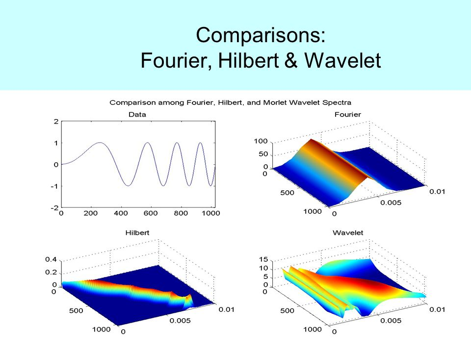 Comparisons: Fourier, Hilbert & Wavelet