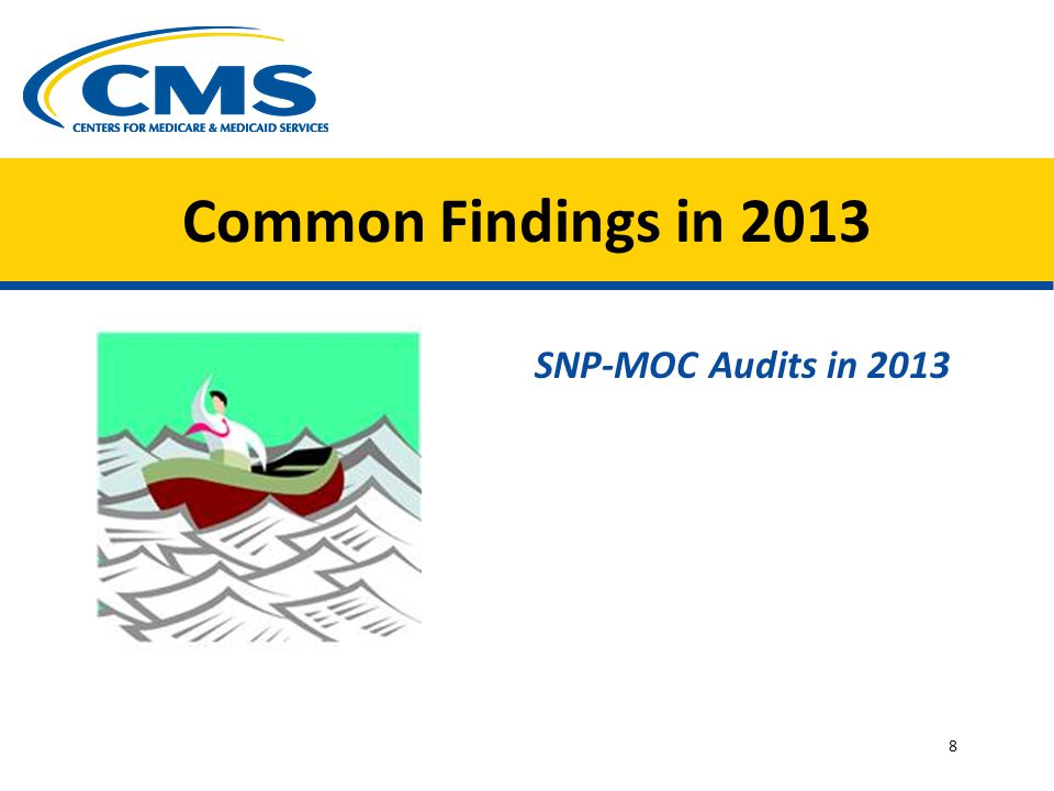 Common Findings in 2013 SNP-MOC Audits in 2013 8