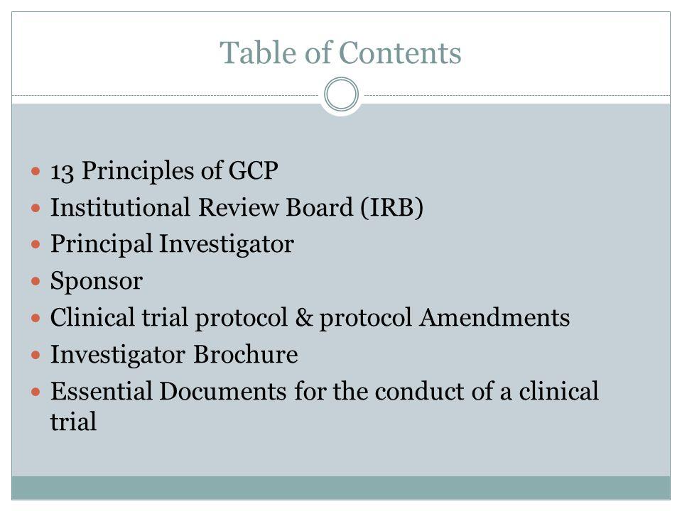Principles of GCP 1.