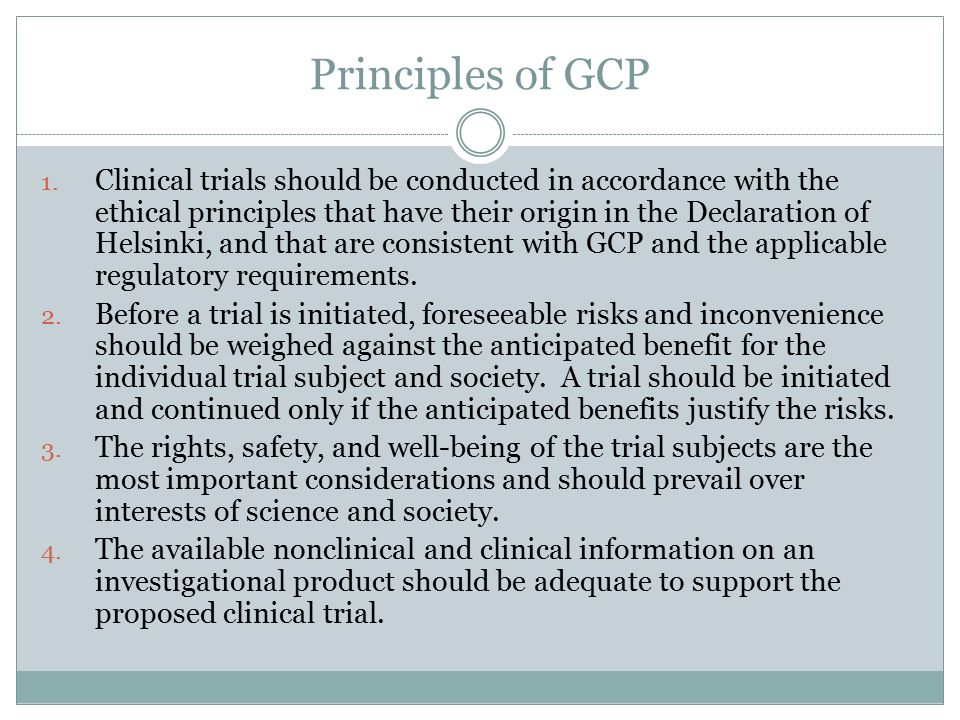 Principles of GCP 5.