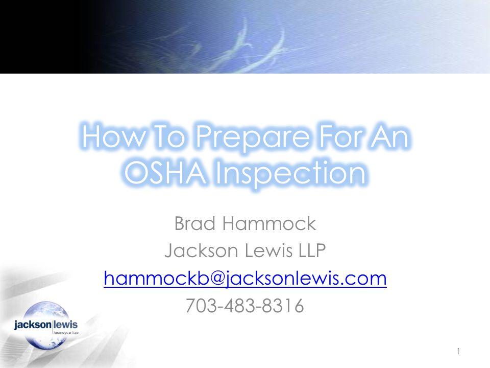 Brad Hammock Jackson Lewis LLP hammockb@jacksonlewis.com 703-483-8316 1