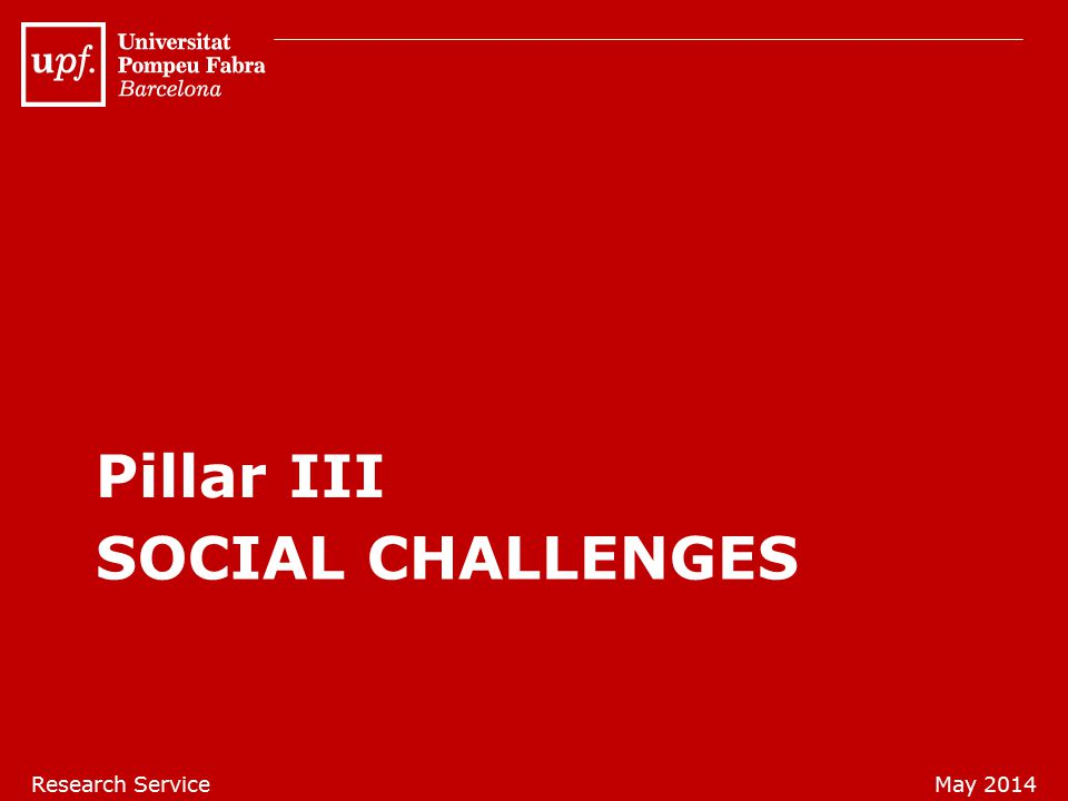 SOCIAL CHALLENGES Pillar III Research ServiceMay 2014