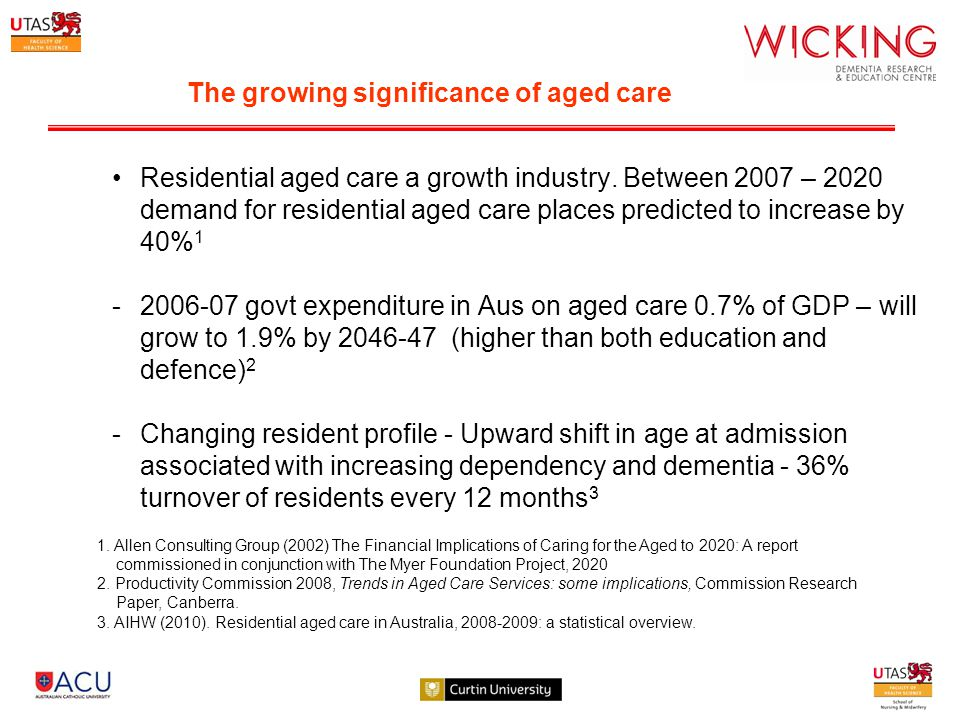 Residential aged care a growth industry.