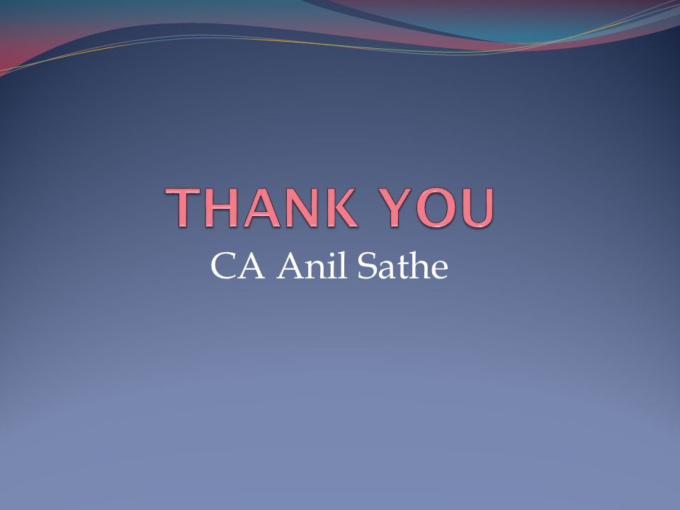 CA Anil Sathe