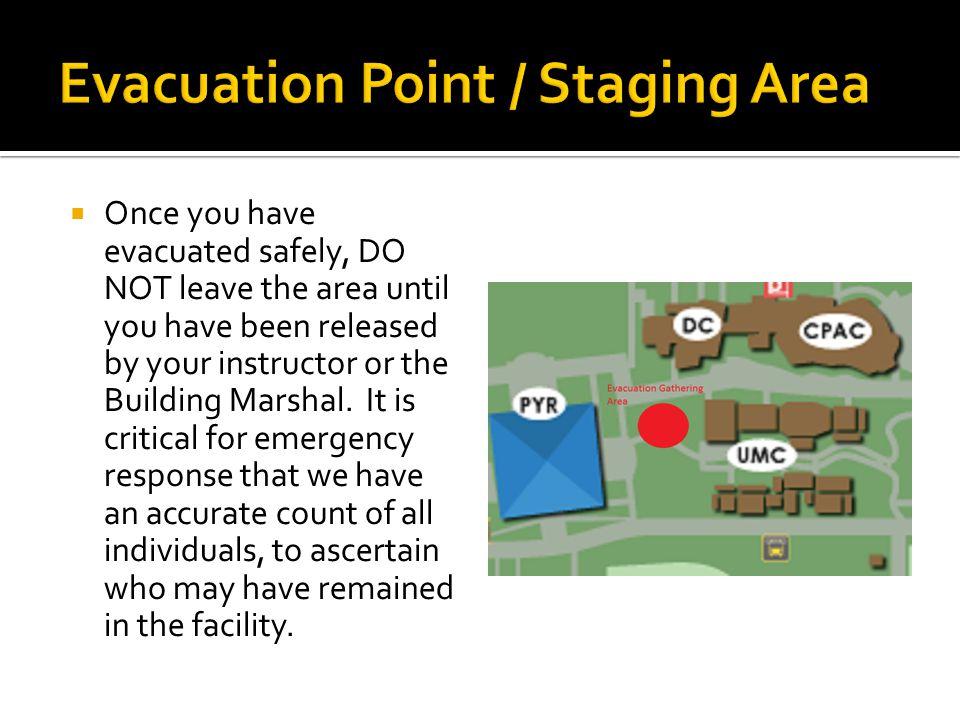  In case of fire, activate nearest alarm  Evacuate building.