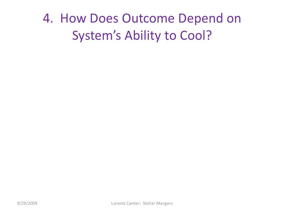 4. How Does Outcome Depend on System's Ability to Cool.