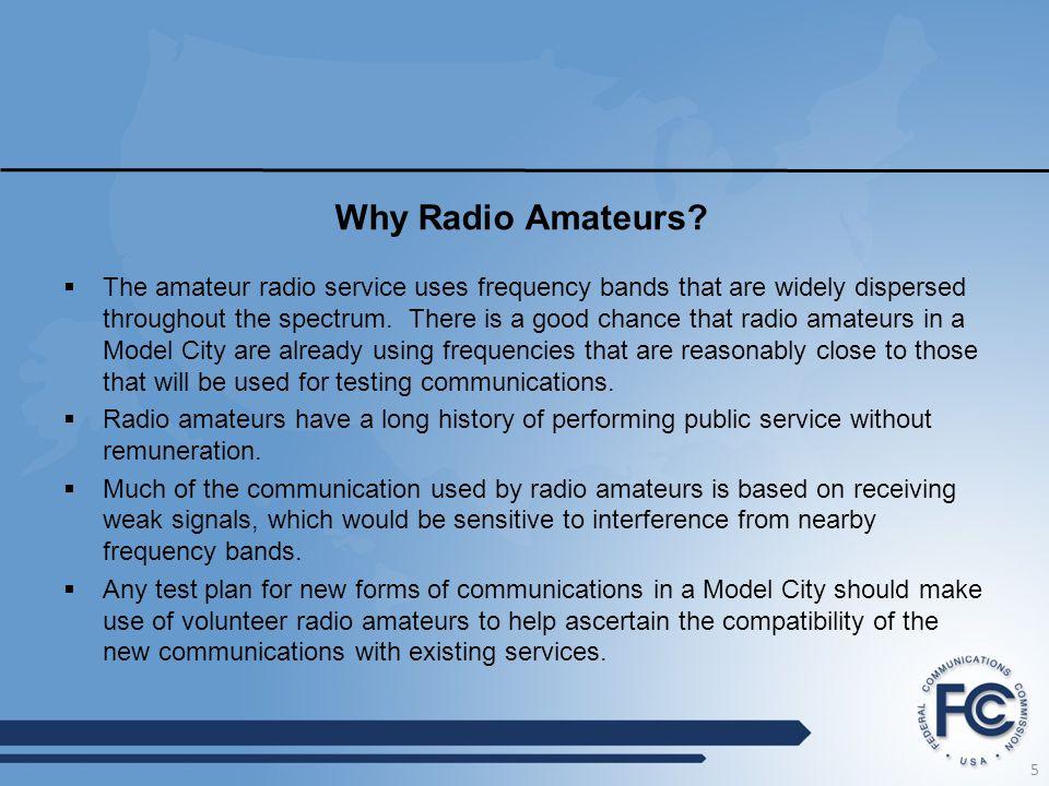 Why Radio Amateurs.