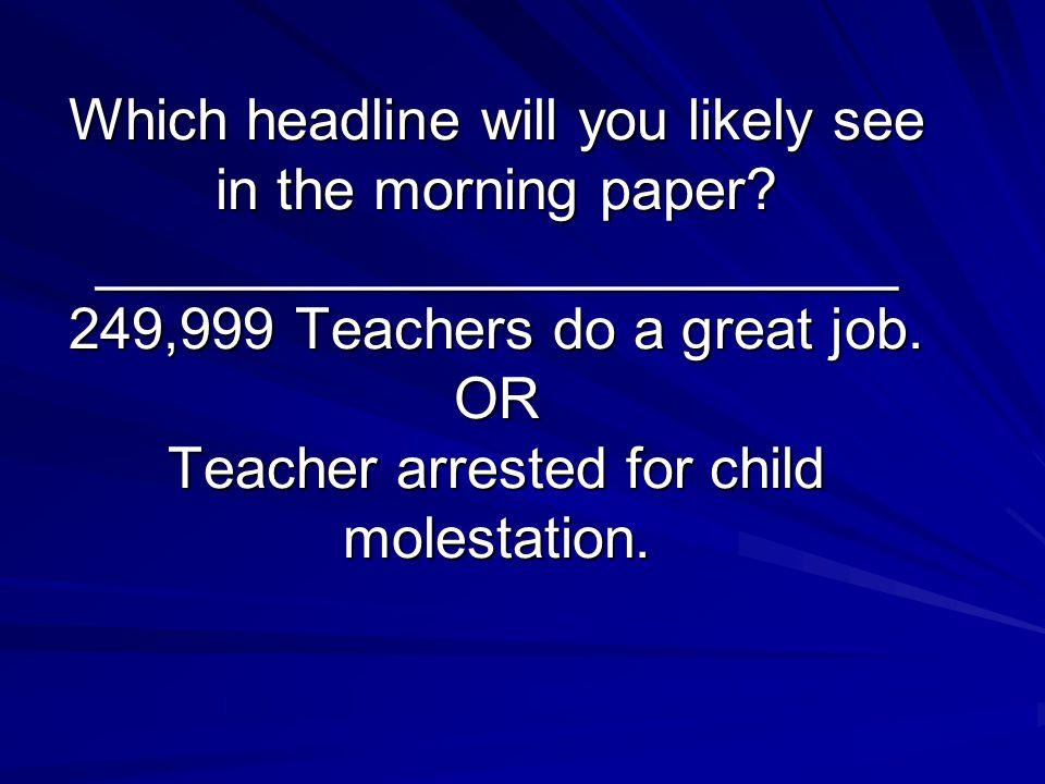 Why Do Educators Fail.