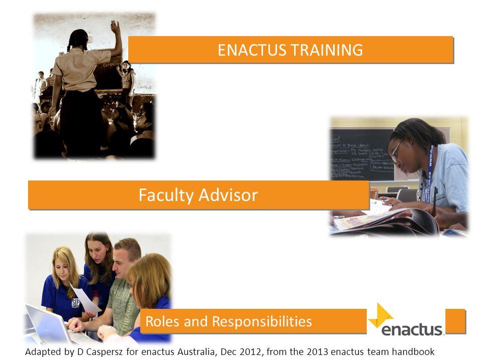 Why a Faculty Advisor.