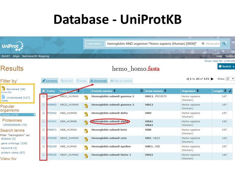Database - UniProtKB