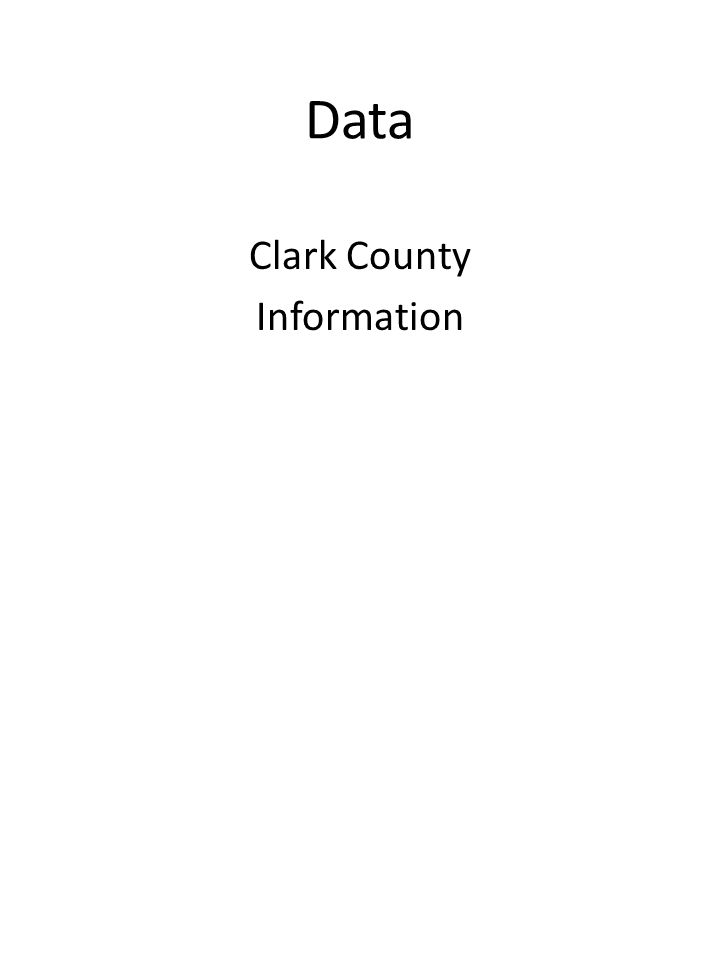 Data Clark County Information