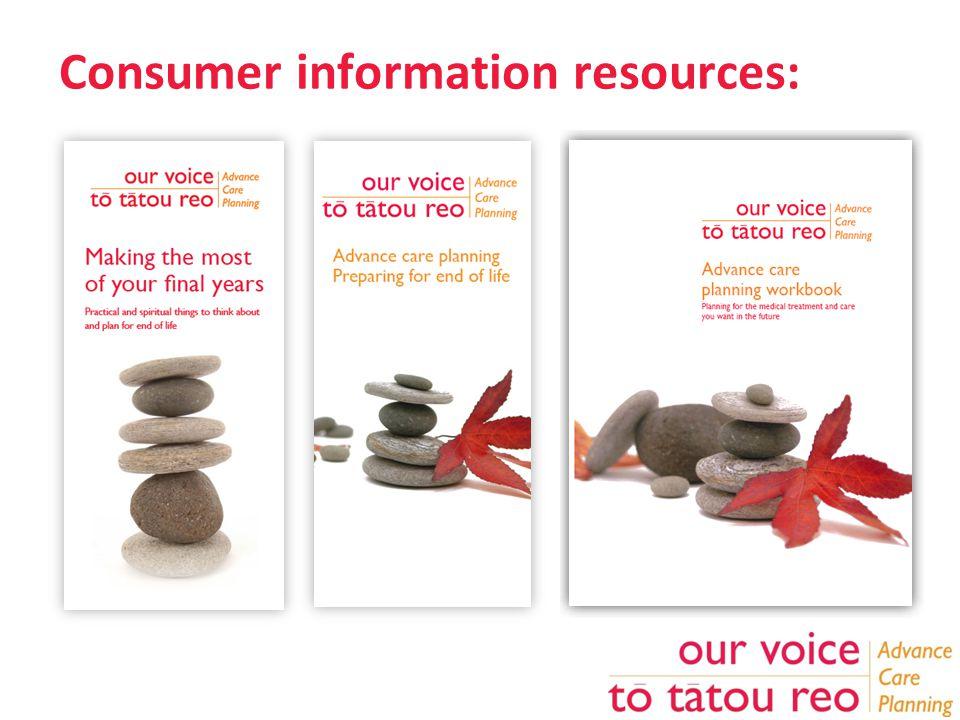 Consumer information resources: