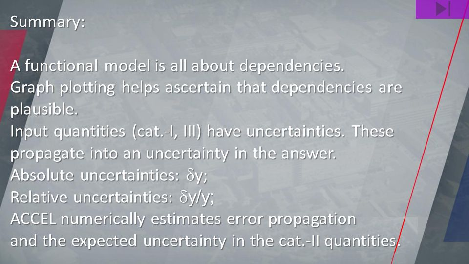 Summary: A functional model is all about dependencies.