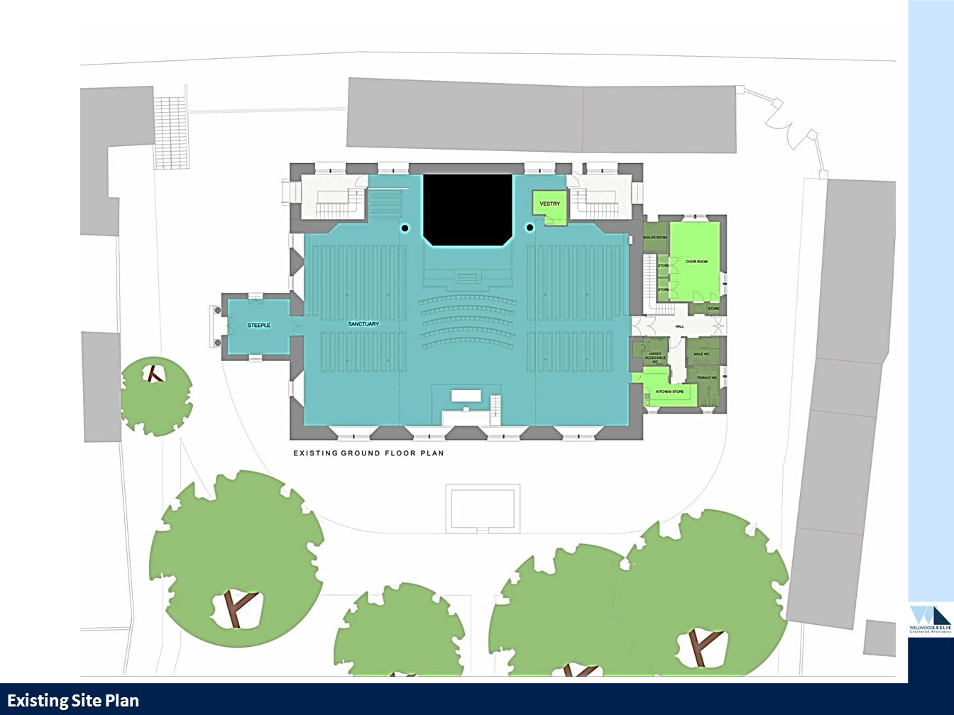PROPOSED HOUSING DEVELOPMENT—TWEEDBRIDGE COURT—PEEBLES Existing Site Plan