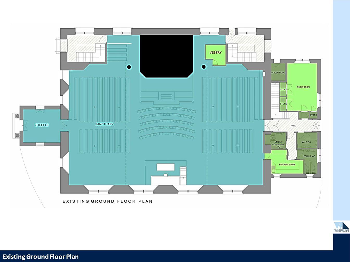 PROPOSED HOUSING DEVELOPMENT—TWEEDBRIDGE COURT—PEEBLES Existing Ground Floor Plan