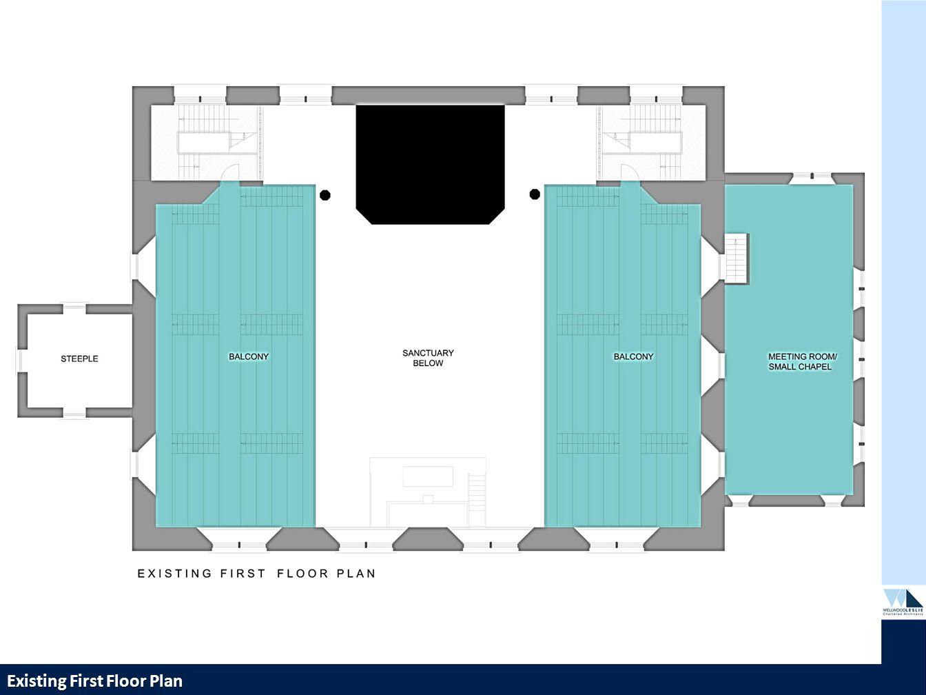 PROPOSED HOUSING DEVELOPMENT—TWEEDBRIDGE COURT—PEEBLES Existing First Floor Plan