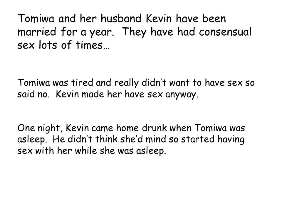 Tomiwa and her husband Kevin have been married for a year. They have had consensual sex lots of times… Tomiwa was tired and really didn't want to have