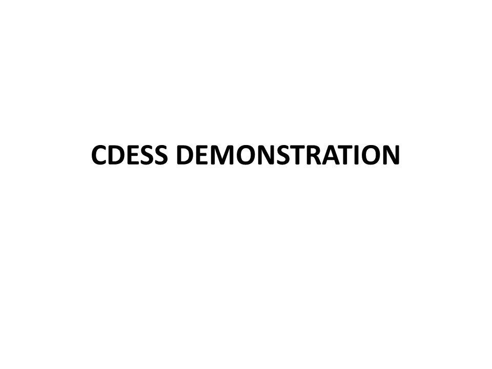 CDESS DEMONSTRATION