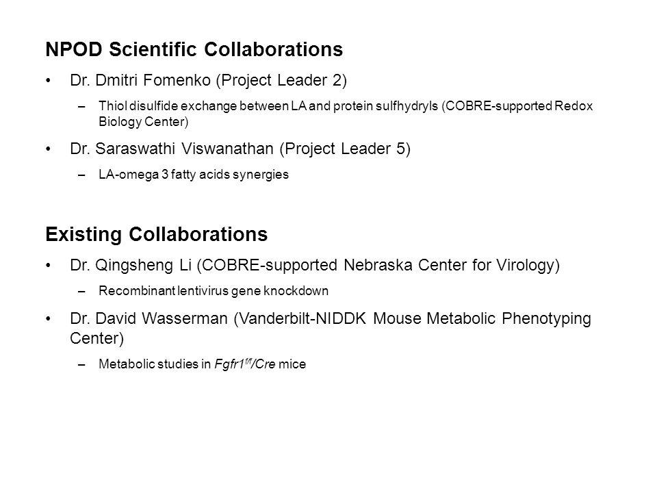 NPOD Scientific Collaborations Dr.