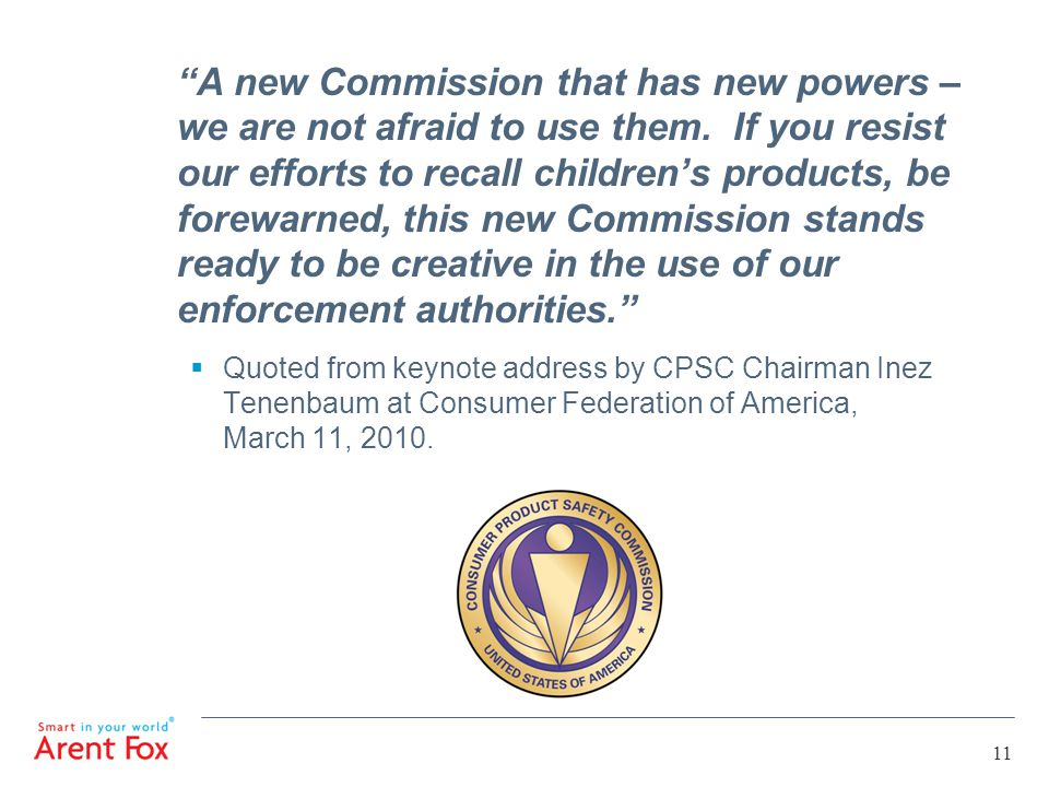 A new Commission that has new powers – we are not afraid to use them.