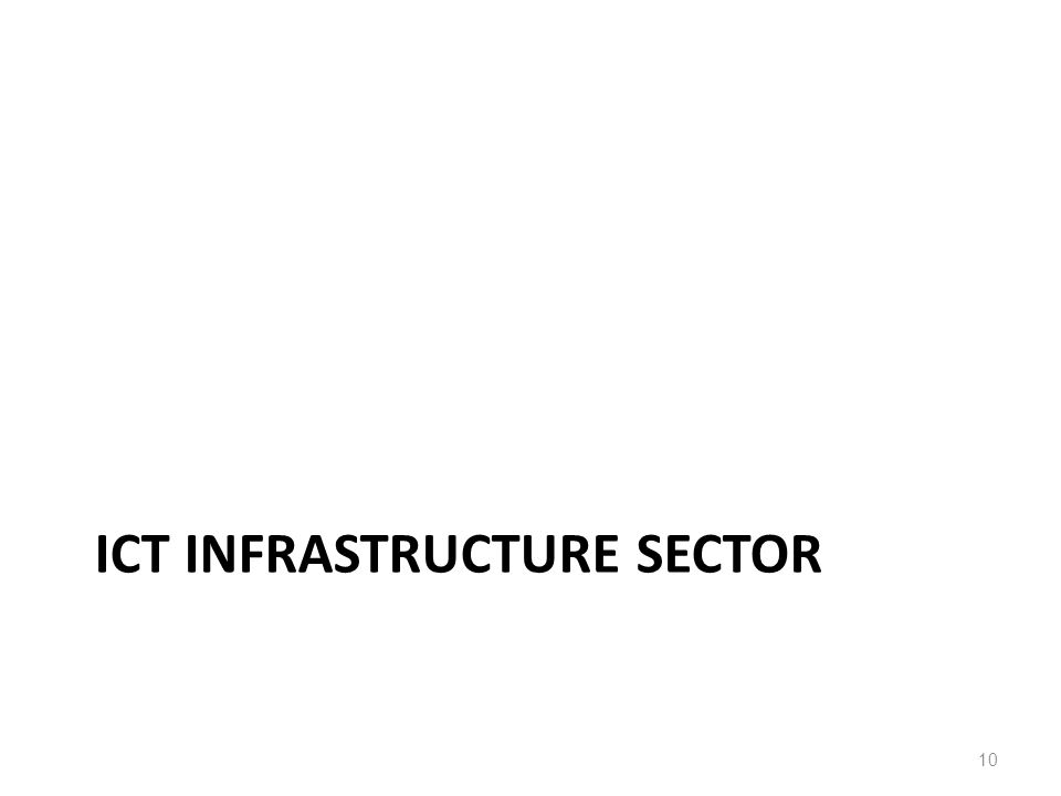 ICT INFRASTRUCTURE SECTOR 10
