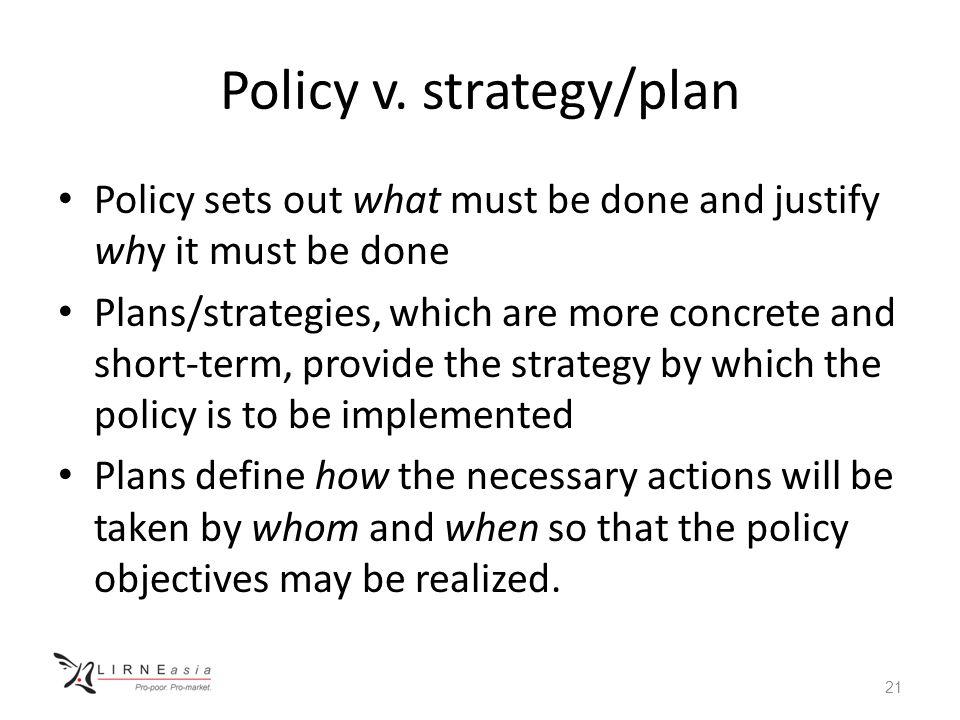 Policy v.