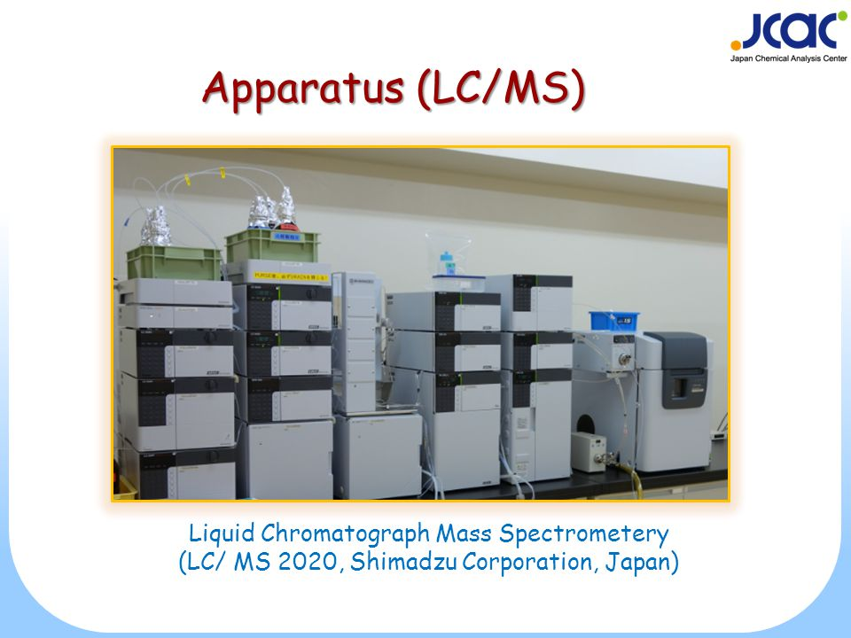 Apparatus (LC/MS) Liquid Chromatograph Mass Spectrometery (LC/ MS 2020, Shimadzu Corporation, Japan)