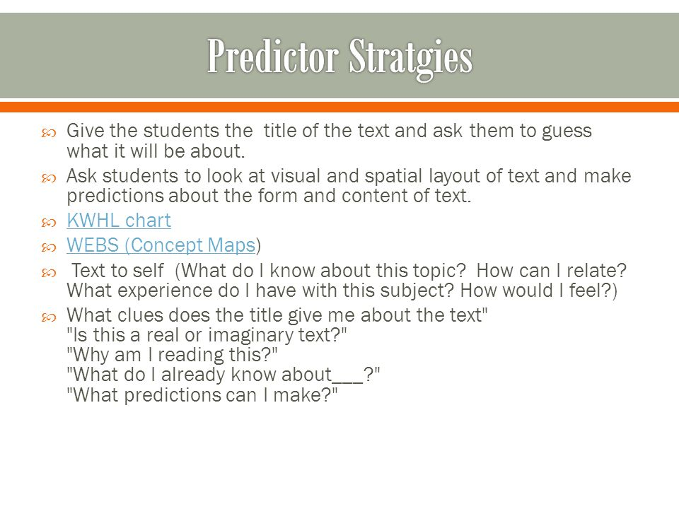  Give the students the title of the text and ask them to guess what it will be about.