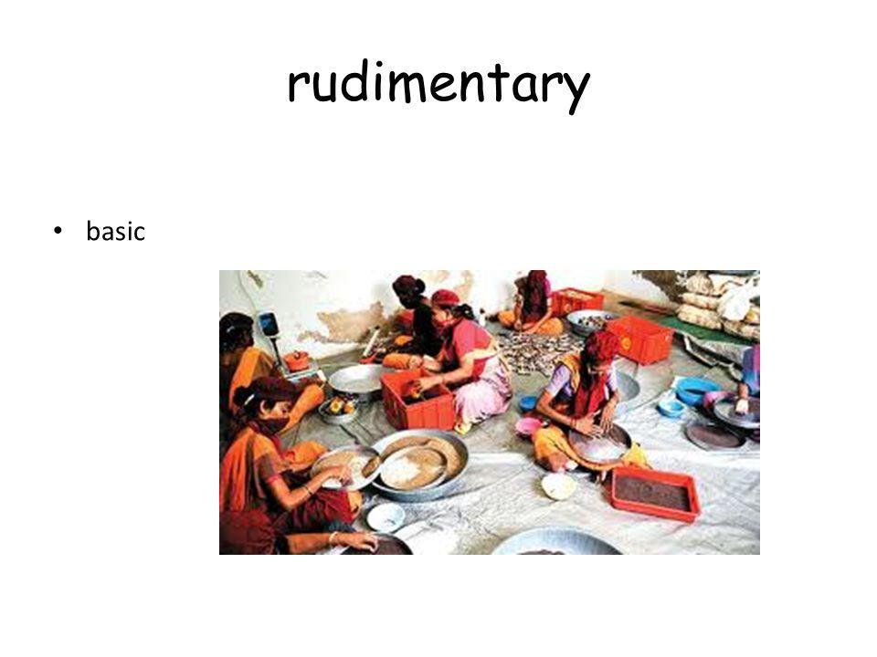 rudimentary basic