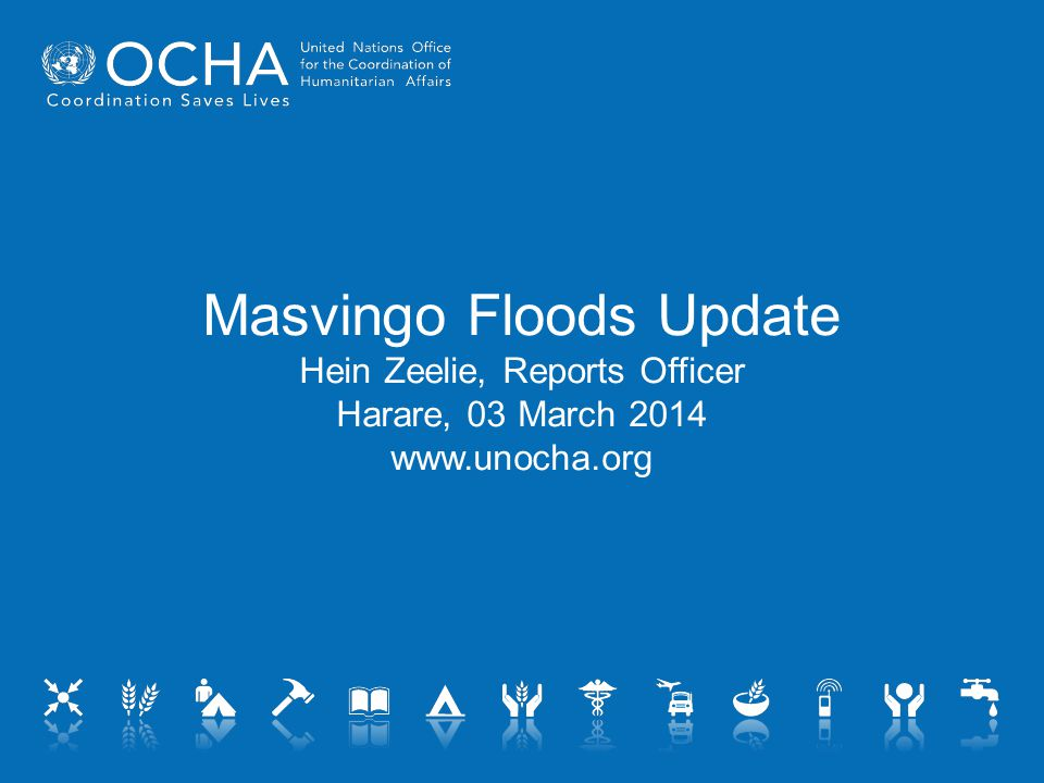 Chingwizi Camp  Registration process still ongoing  2,194 households moved, 100 arriving daily  Many new arrivals not directly flood-affected  Transit points emptying out.