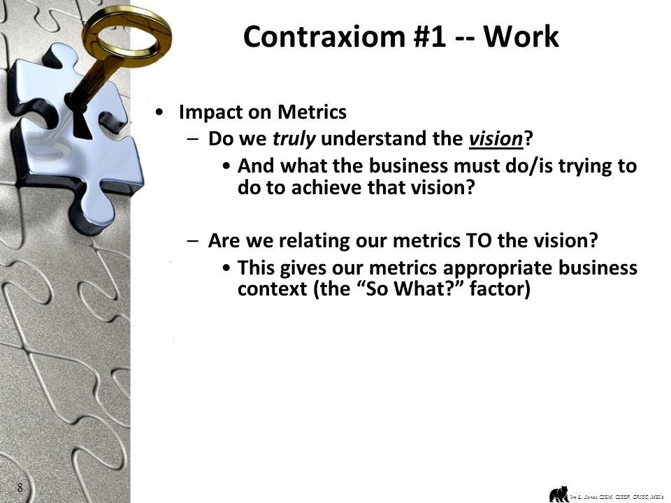 9 Contraxiom #6 -- Lying Kim L.Jones CISM, CISSP, CRISC, MSIA For Geeks, Lying is evil.