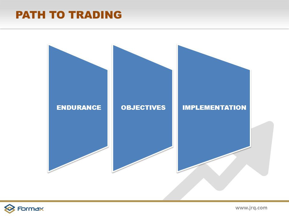 www.jrq.com PATH TO TRADING ENDURANCE OBJECTIVES IMPLEMENTATION