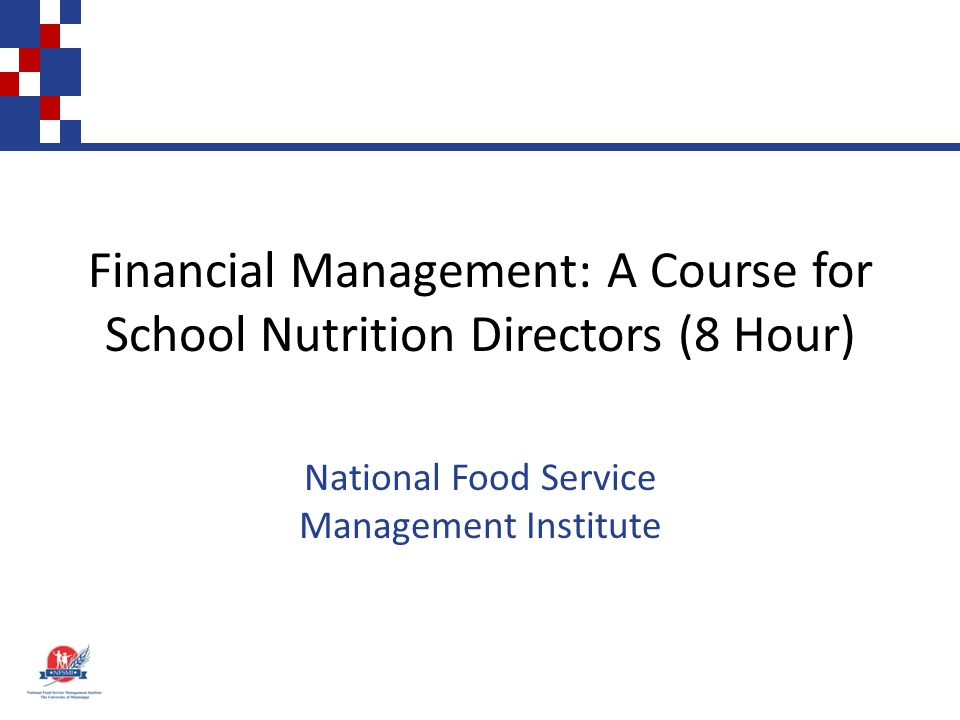 Controlling Food and Labor Costs in School Nutrition Programs Objective: Apply cost control measures to operate a financially sound program with nutritional integrity.