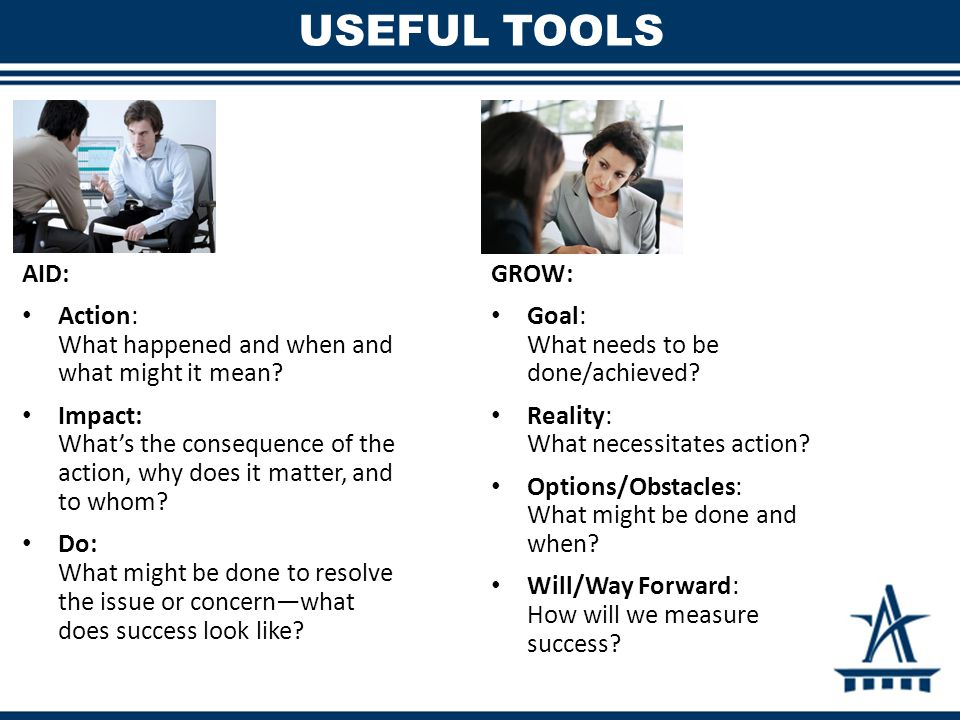USEFUL TOOLS AID: Action: What happened and when and what might it mean.