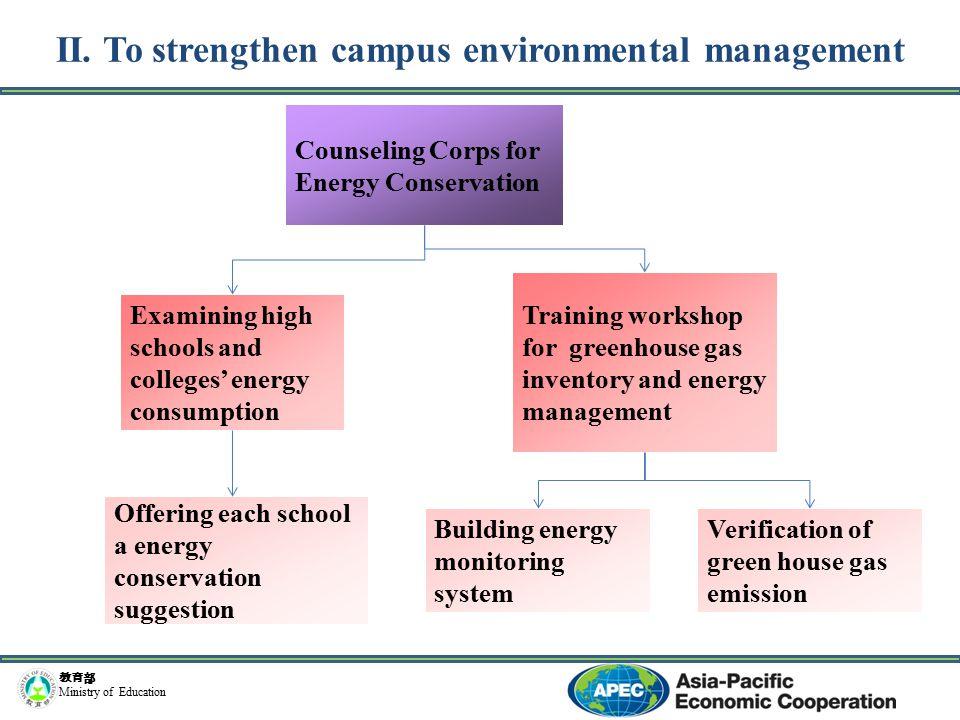教育部 Ministry of Education Ecological campus Biodiversity Retention of native species Sewage ecological treatment model Natural system for water recycle and reuse Symbiosis ecology etc.