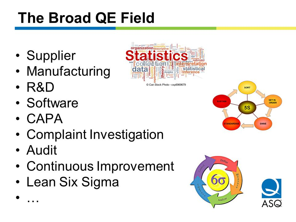 The Broad QE Field Supplier Manufacturing R&D Software CAPA Complaint Investigation Audit Continuous Improvement Lean Six Sigma …