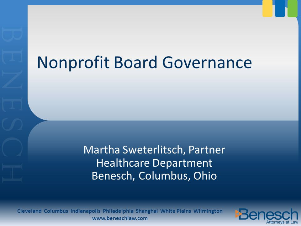The Standards for Excellence code covers eight areas of nonprofit operations: 1.Mission and program 2.Governing board 3.Conflict of interest 4.Human resources 5.Financial and legal accountability 6.Public accountability 7.Fundraising 8.Public policy and public affairs Ohio Association of Nonprofit Organizations ( OANA ) Standards for Excellence