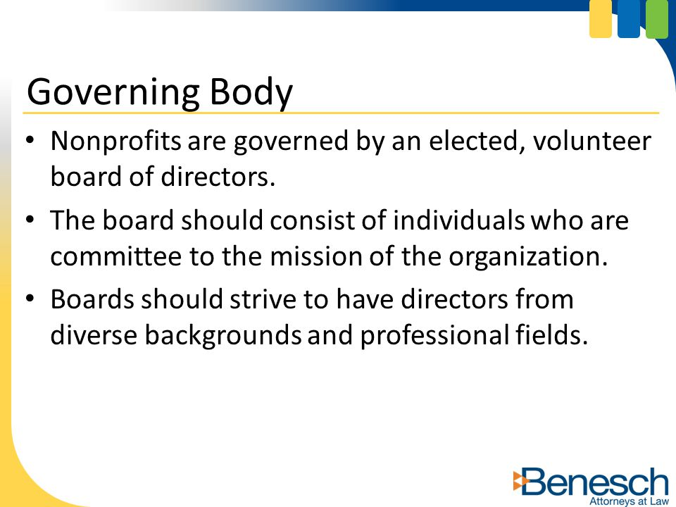 Board of Directors should adopt a written conflict of interest policy.