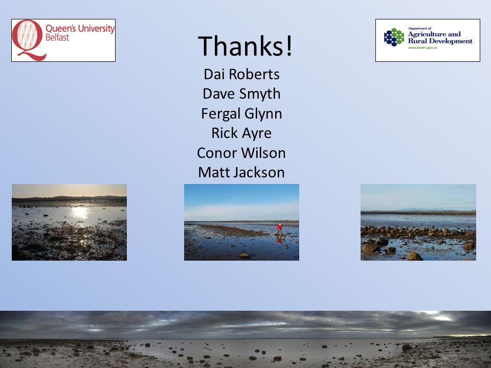 Thanks! Dai Roberts Dave Smyth Fergal Glynn Rick Ayre Conor Wilson Matt Jackson