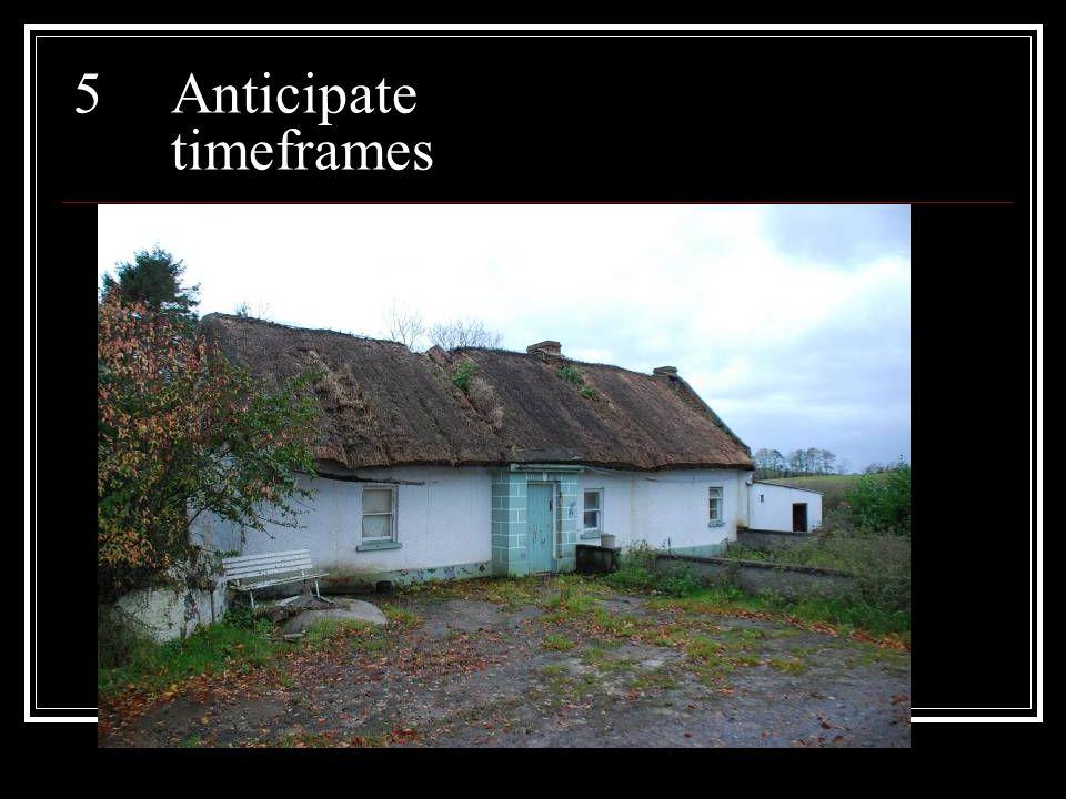 5Anticipate timeframes