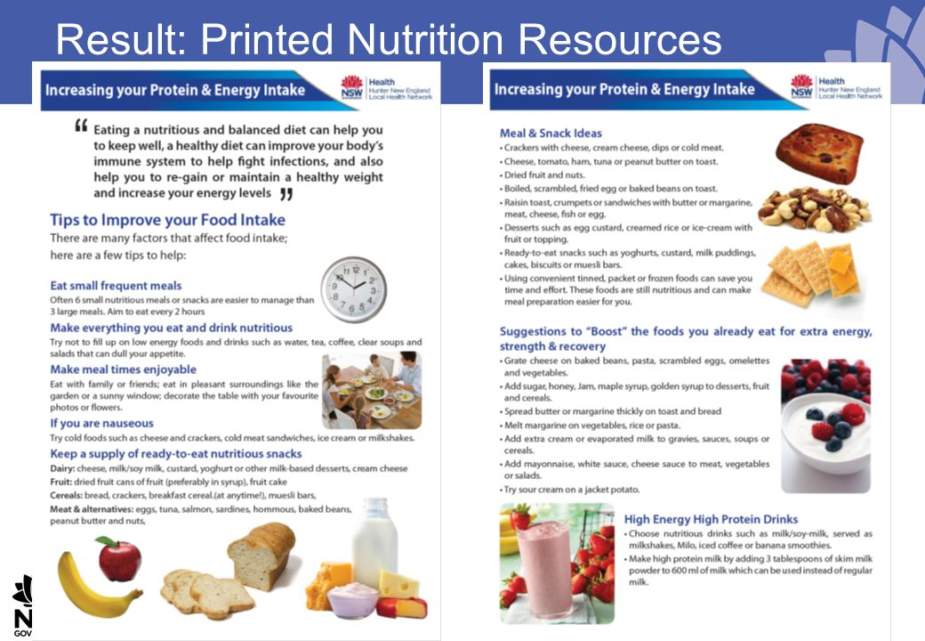 Result: Printed Nutrition Resources