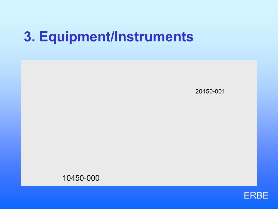 3. Equipment/Instruments 10450-000 20450-001 ERBE