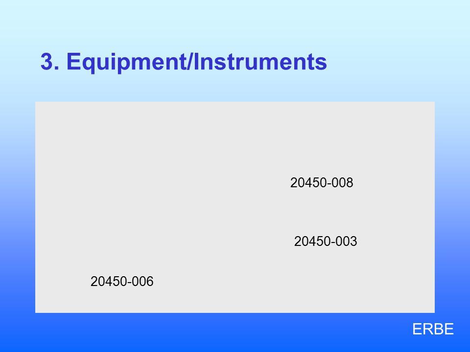 3. Equipment/Instruments 20450-006 20450-008 20450-003 ERBE