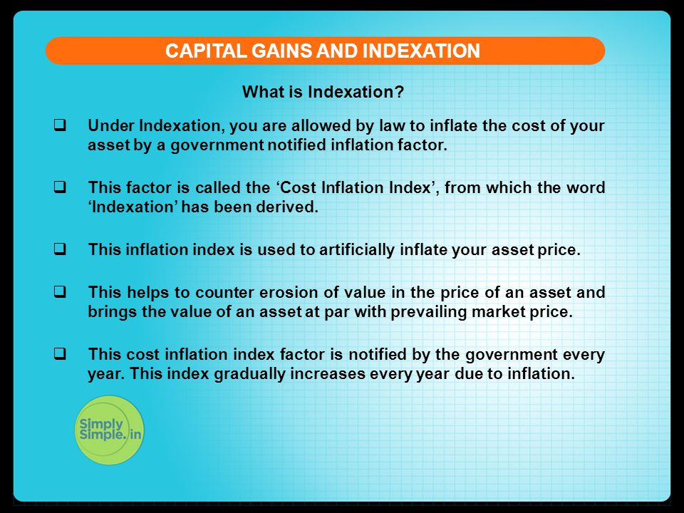 What is Indexation.