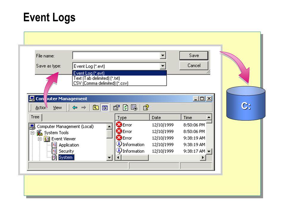 Event Logs C: