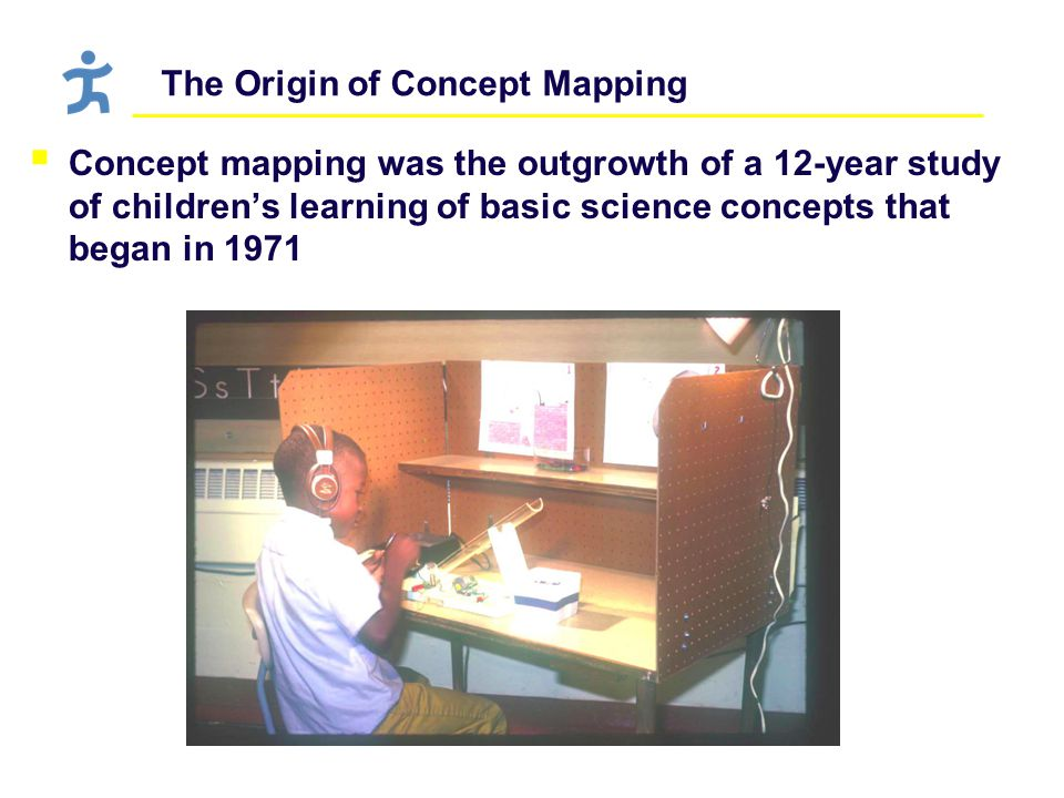 The Origin of Concept Mapping  Concept mapping was the outgrowth of a 12-year study of children's learning of basic science concepts that began in 1971