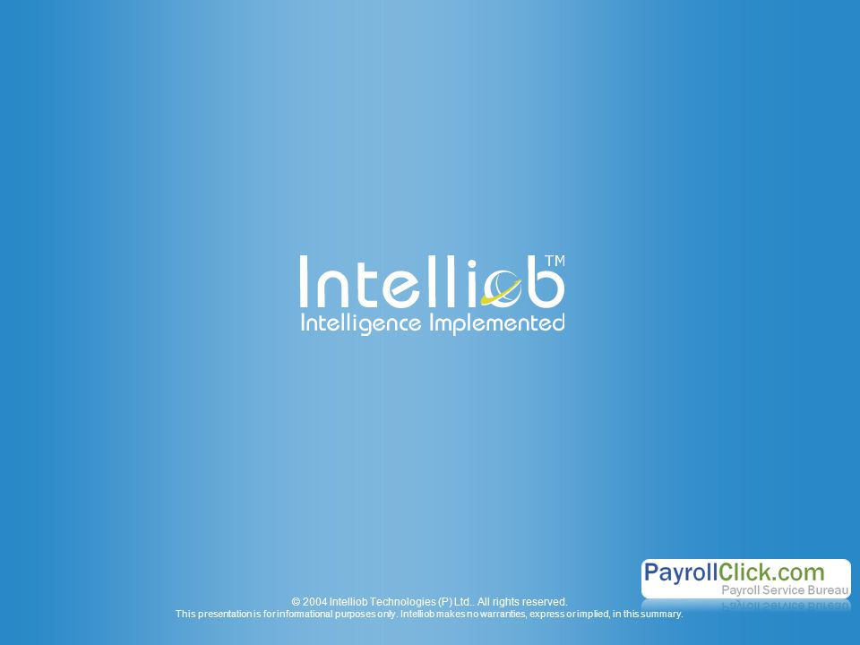 © 2004 Intelliob Technologies (P) Ltd.. All rights reserved.