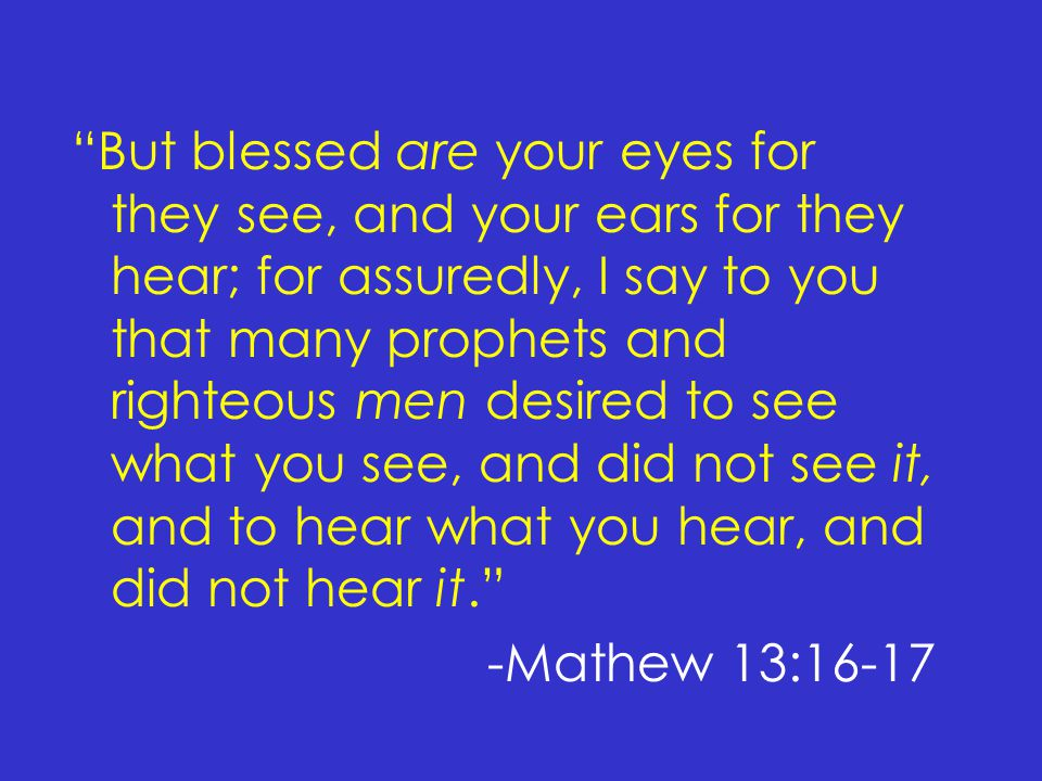 Have they all 'Obeyed the Gospel' .But they have not all obeyed the gospel.